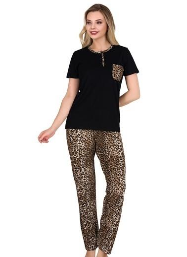 Sensu Kadın Pijama Takımı Kısa Kollu Pj3008 Renkli